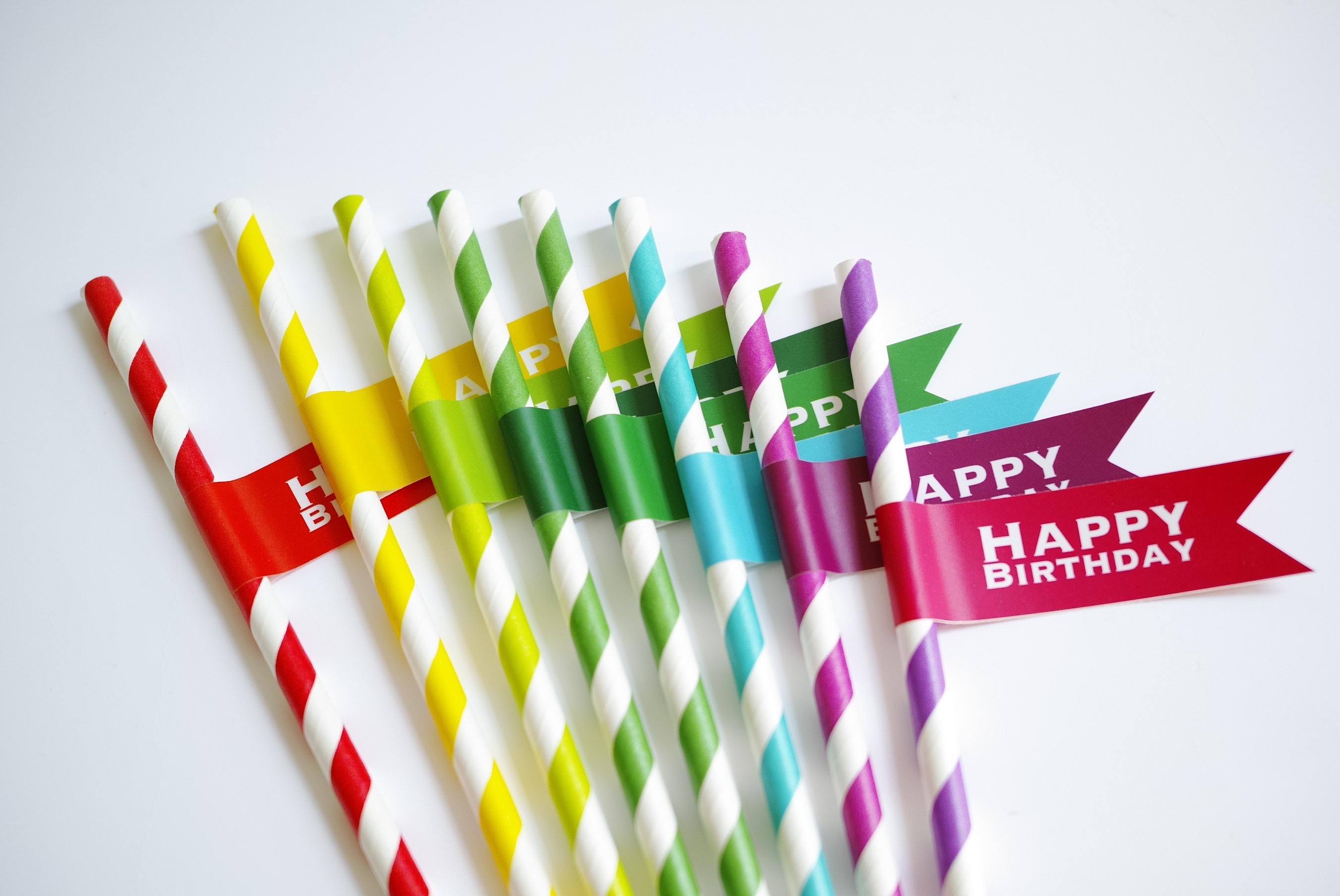 """Paper straws are colourful and """"fun""""-oriented."""