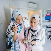 Two Malaysian ladies at work