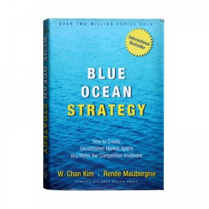 """A picture of the book, """"Blue Ocean Strategy""""."""